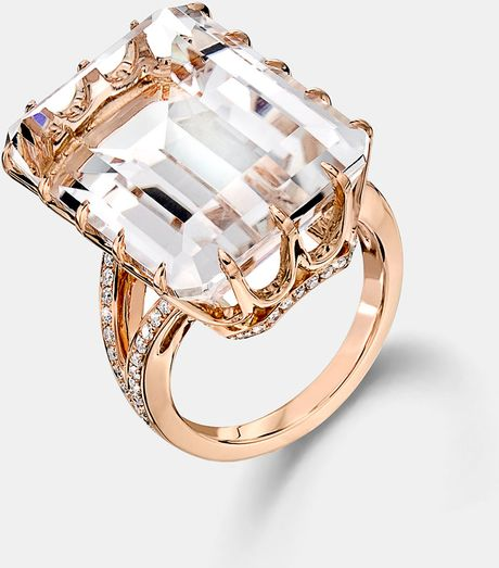 Ivanka Trump Rock Crystal Diamond Accent Ring in Gold (rock crystal) - Lyst