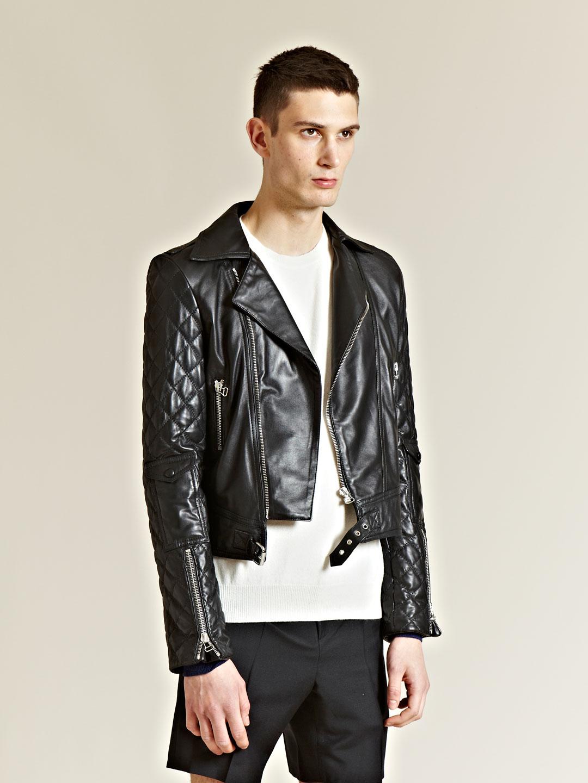 Jw Anderson J W Anderson Mens Leather Biker Jacket In Black For Men