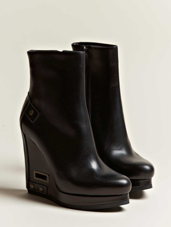 Lyst Jil Sander Womens Dasy Geko Wedge Boots In Black
