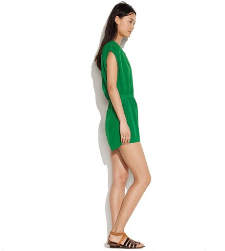 2a73bf9020f4 Madewell Silk Mosswood Jumpsuit in Green (portico green .