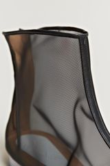 Maison Martin Margiela Defile Womens Sheer Ankle Boots in Transparent (black) - Lyst