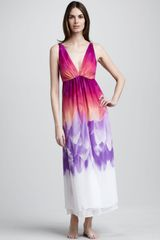 Natori Sapa Layered Gown - Lyst
