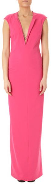 Patrizia Pepe Long Dress in Pink (virtual pink) - Lyst