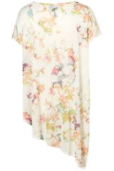 Topshop Floral Over Sized Tshirt in Multicolor (multi) - Lyst