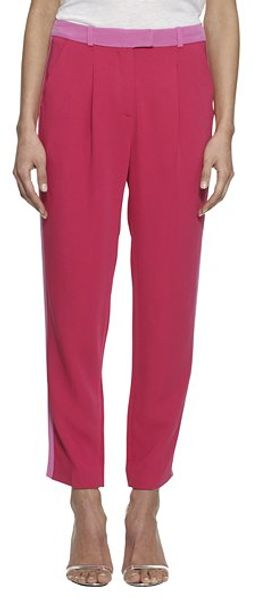 Whistles Wren Tailored Trouser in Pink - Lyst