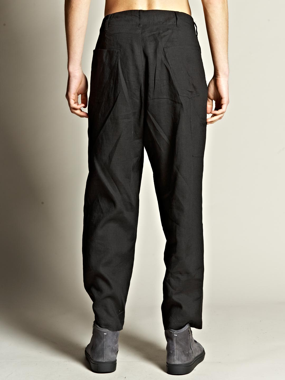 Yohji Yamamoto Pour Homme Mens Tuck Pants In Black For Men