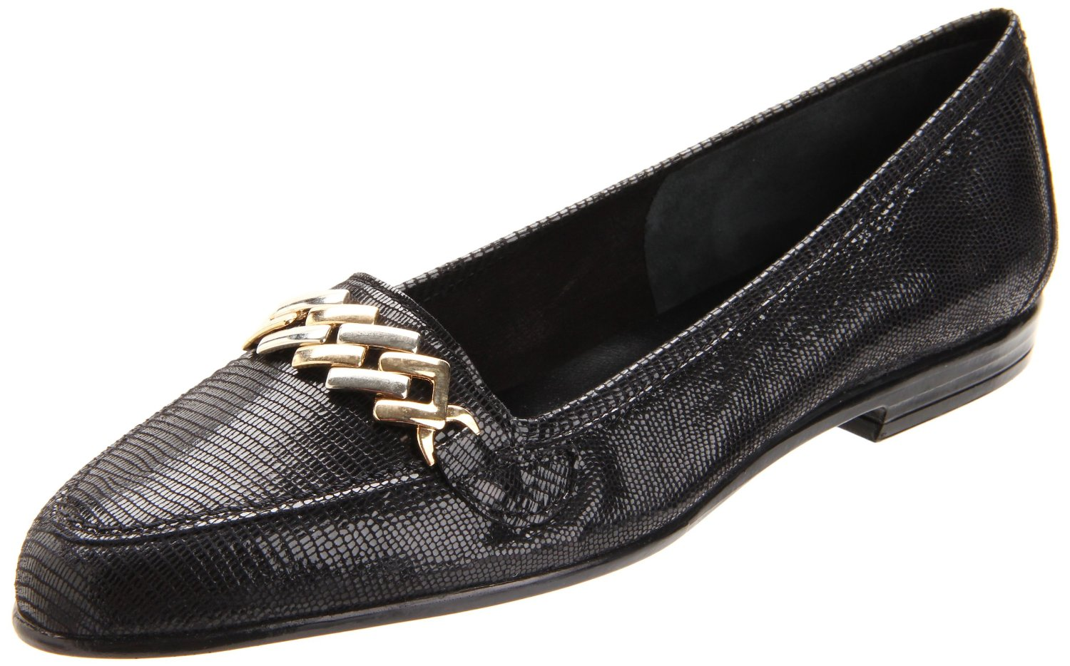 Amalfi By Rangoni Womens Oste Flat in Black (black tejus ...