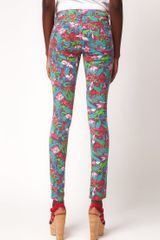 Asos Skinny Jean In Jungle Hibiscus Print in Multicolor (multi) - Lyst