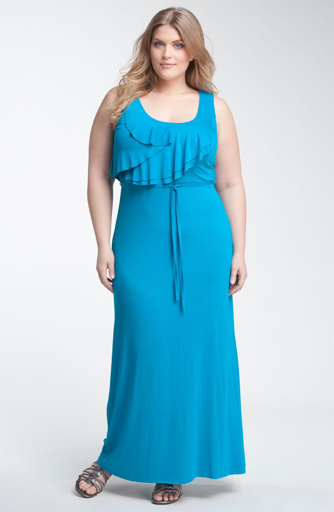 Calvin klein maxi dress blue - Fashion dresses
