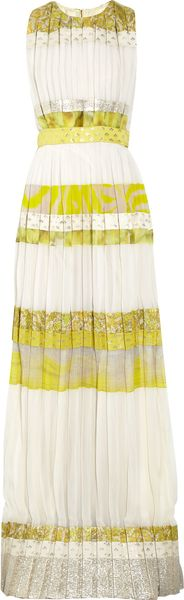 Giambattista Valli Patterned Striped Silkblend Gown - Lyst