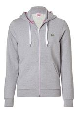 Lacoste Silvergrey Melange Zip Hoodie Jacket in Gray for Men (silver) - Lyst