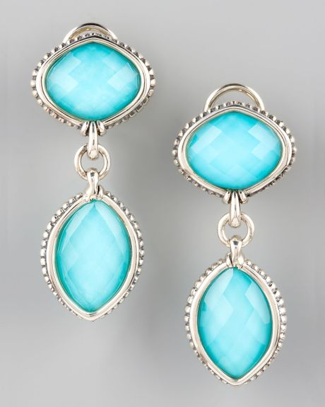 Lagos Venus Drop Earrings in Blue (turquoise) - Lyst