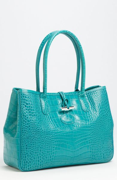 Longchamp Roseau Croc Shoulder Bag 41