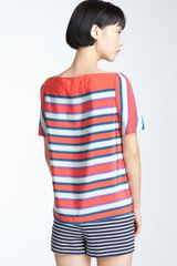 Marc By Marc Jacobs Top Jacobson Stripe in Red (coral red multi) - Lyst