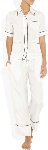 Marni Silk Pajama Shirt in White - Lyst