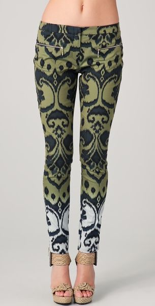 Matthew Williamson Ombre Ikat Skinny Trousers - Lyst