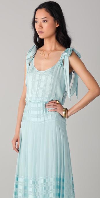 Lyst Tory Burch Leandra Maxi Dress In Blue