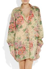 Zimmermann Devoted Floral Print Cotton Voile Shirt in Floral - Lyst