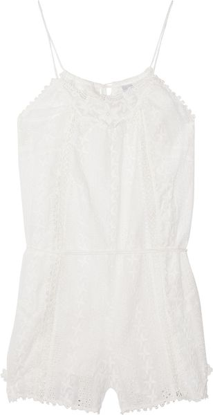 Zimmermann Devoted Broderie Anglaise Cotton Playsuit - Lyst