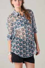 Acne Patti Print Blouse - Lyst