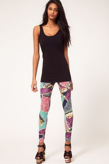 ASOS Collection Legging In Chain And Animal Print - Lyst