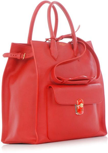 Balenciaga All Time Padlock Bag in Red - Lyst
