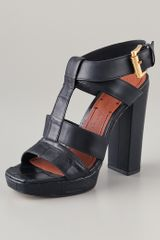 Elizabeth And James Sam T Strap Sandals - Lyst