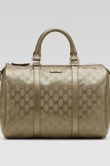 Gucci Joy Medium Boston Bag in Gold (champagne) - Lyst