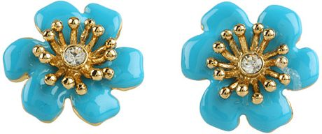 Kate Spade Moms The Word Posey Park Stud Earrings in Blue (t) - Lyst
