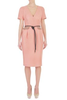 Matthew Williamson Slub Silk Tailoring Day Dress - Lyst