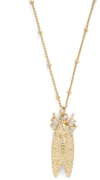 Modcloth Song Of The Cicada Necklace in Gray (grey) - Lyst