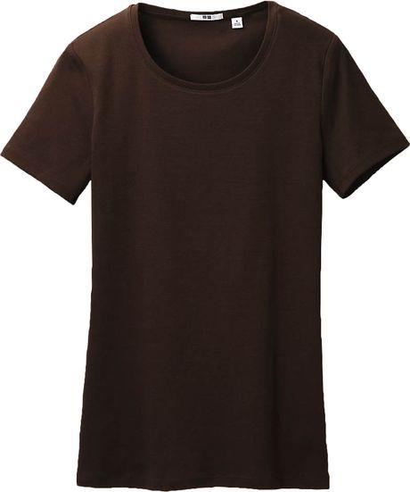 Uniqlo women premium cotton crew neck short sleeve t shirt for Uniqlo premium t shirt