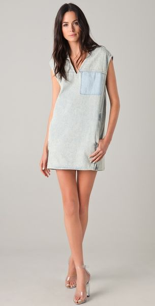 3.1 Phillip Lim Oversized Denim Dress in Blue - Lyst