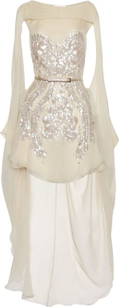 Antonio Berardi Embellished Silkchiffon Dress - Lyst