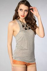 Cheap Monday The Yizana Tank in Storm Melange in Gray - Lyst