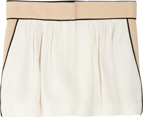 Chloé Tailored Twill Shorts in White (cream) - Lyst