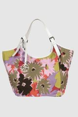 Coccinelle Large Fabric Bags in Multicolor (pink) - Lyst