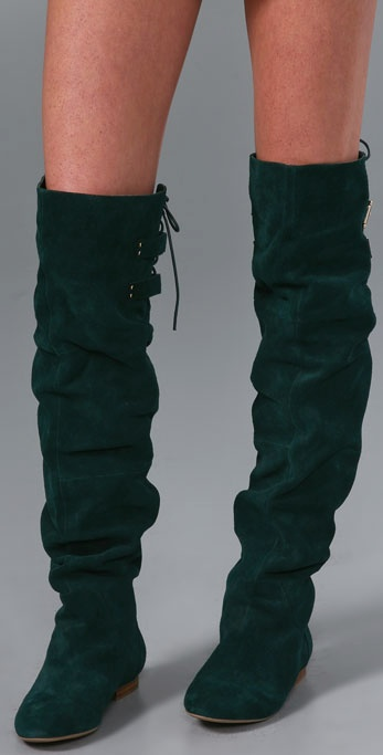 Lyst Jeffrey Campbell Lubbock Suede Over The Knee Boots