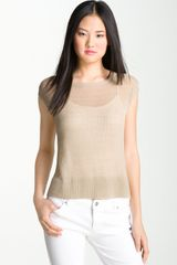 Kenneth Cole Boxy Short Sleeve Sweater - Lyst