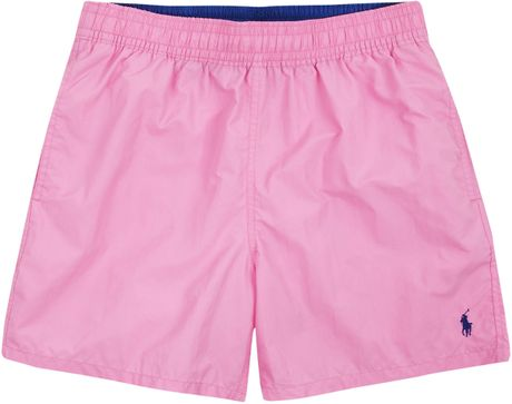 Polo Ralph Lauren Pink Swim Shorts in Pink for Men - Lyst