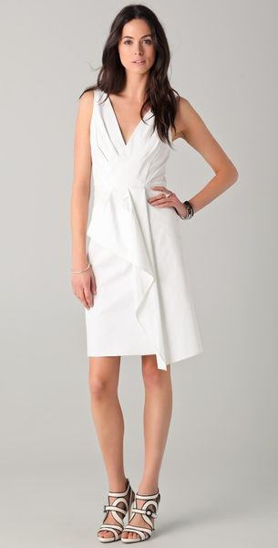 Rachel Roy Draped Wrap Dress in White (natural) - Lyst