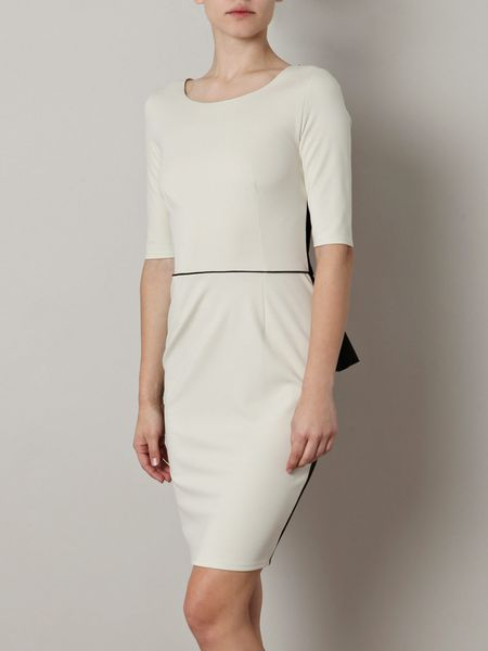 Stella Mccartney Cady Bicolour Dress in Black (ivory) - Lyst