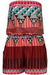 Topshop Aztec Bandeau Cover Up in Multicolor (multi) - Lyst