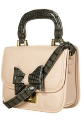 Topshop Pale Pink Lady Bow Bag