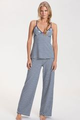 Betsey Johnson Stripe Stretch Cotton Pajamas - Lyst