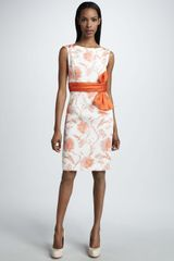 Bigio Collection Bow Waist Floral Dress - Lyst