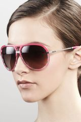 Dior Croisette Striped Aviator Sunglasses Fuchsia - Lyst