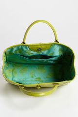 Longchamp Roseau Embossed Tote in Green - Lyst