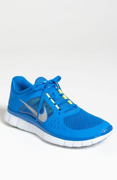 Nike Free Run 3 Running Shoe in Blue for Men (soar/ silver/ platinum) - Lyst