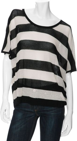 Rag & Bone Exclusive Striped Beach Tee in Black (stripe) - Lyst